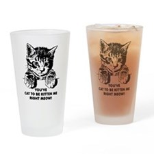 You've Cat To Be Kitten Me Right Meow Funny Drinki