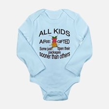 All Kids are Gifted Long Sleeve Infant Bodysuit