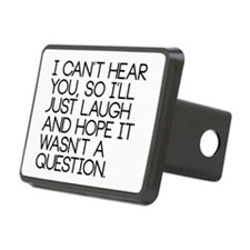 I can't hear you so... Hitch Cover