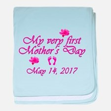 First Mother's Day 2016 baby blanket