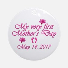 First Mother's Day 2016 Round Ornament