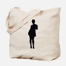 Sexy woman posing is dress Tote Bag