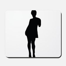 Sexy woman posing is dress Mousepad
