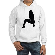 Sexy woman squatting in heels Hoodie