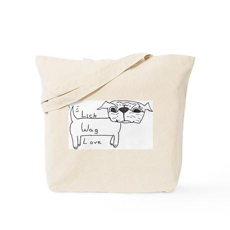 Lick Wag Love Tote Bag