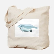 Mom and Baby Manatees Tote Bag