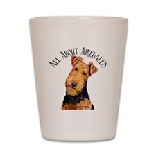 All About Airedales Shot Glass