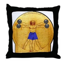 Side Shoulder Raises Throw Pillow