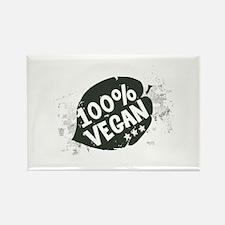 100 Percent Vegan Rectangle Magnet