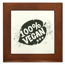 100 Percent Vegan Framed Tile