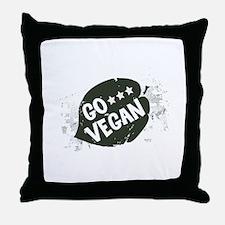 Go Vegan Throw Pillow