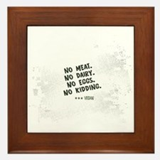 No meat Vegan Framed Tile
