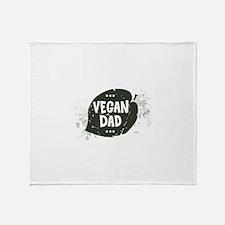 Vegan Dad Throw Blanket