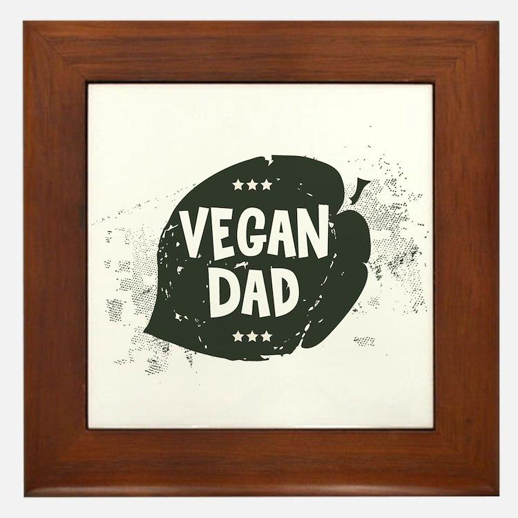 Vegan Dad Framed Tile