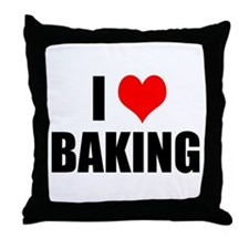 I Love Baking Throw Pillow