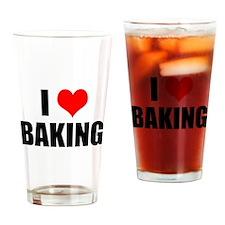 I Love Baking Drinking Glass