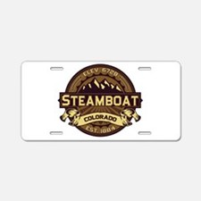 Steamboat Sepia Aluminum License Plate