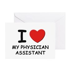 I love physician assistants Greeting Cards (Packag