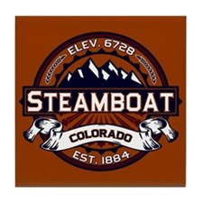 Steamboat Vibrant Tile Coaster