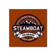 "Steamboat Vibrant Square Sticker 3"" x 3"""