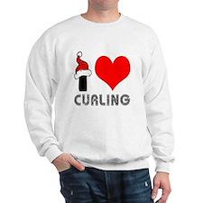 I Love Curling Sweatshirt