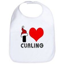 I Love Curling Bib