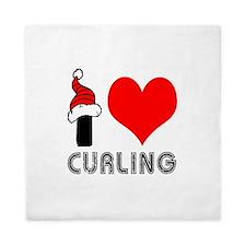 I Love Curling Queen Duvet
