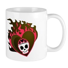 Girly Skull Heart Mug