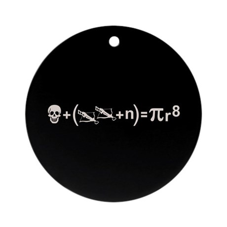 Pirate Formula Ornament Round By Vicevoices