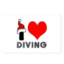 I Love Diving Postcards (Package of 8)