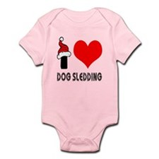 I Love Dog Sledding Infant Bodysuit