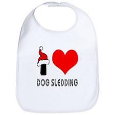 I Love Dog Sledding Bib