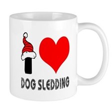 I Love Dog Sledding Mug