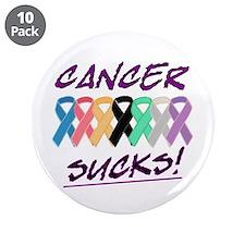 """Cancer sucks.psd 3.5"""" Button (10 pack)"""