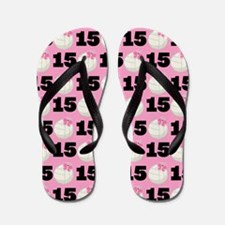 Volleyball Player Number 15 Flip Flops