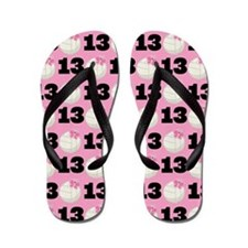 Volleyball Player Number 13 Flip Flops