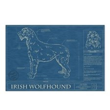 BluePrint of an Irish Wolfhound Postcards (Package