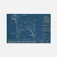 BluePrint of an Irish Wolfhound Rectangle Magnet