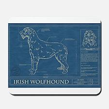 BluePrint of an Irish Wolfhound Mousepad