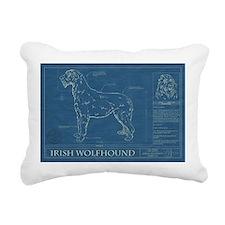 BluePrint of an Irish Wolfhound Rectangular Canvas
