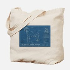 BluePrint of an Irish Wolfhound Tote Bag