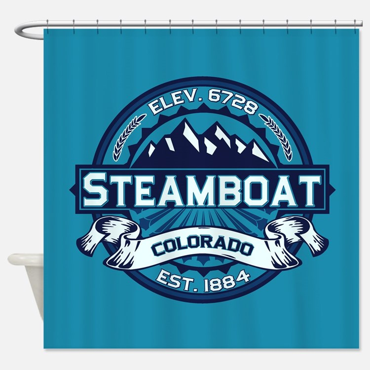 Steamboat Ice Shower Curtain
