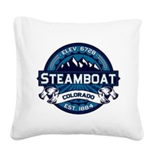 Steamboat Ice Square Canvas Pillow