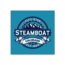 "Steamboat Ice Square Sticker 3"" x 3"""