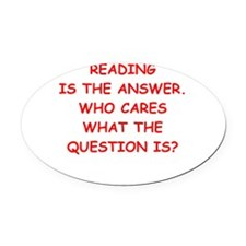 reading Oval Car Magnet