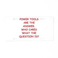 power tools Aluminum License Plate