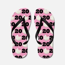 Volleyball Player Number 20 Flip Flops
