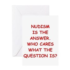 nudism Greeting Card