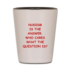 nudism Shot Glass