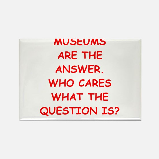 museums Rectangle Magnet